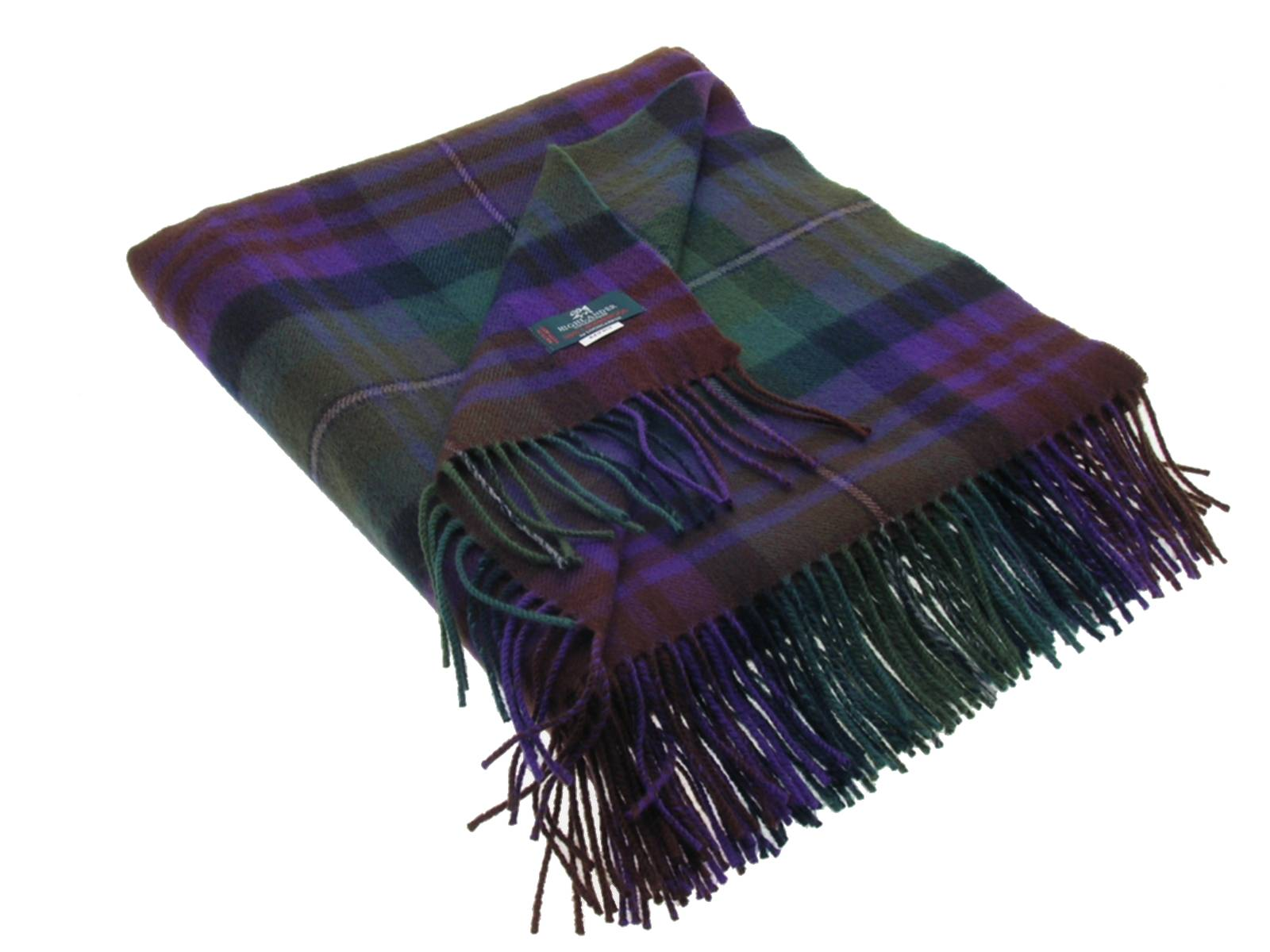 Isle of Skye Tartan Lambswool Blanket